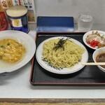 修ちゃんラーメン - 料理写真:つけ麺(冷)+かに玉