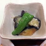 千草 - ナスの味噌煮を追加注文