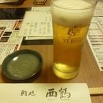 15736540 - 2012.11 最初はビール♪エビスかサッポロクラシックか選べます。