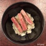 香月 - 自前で石垣牛シンタマのステーキ丼