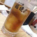 もつ焼 稲垣 - ジョッキでウーロン茶!