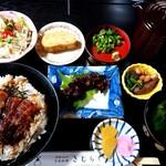 157374387 - まぶし丼ランチ(1600円税込)、肝焼き(500円税込)
