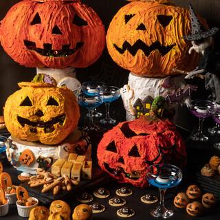 栗やかぼちゃのスイーツを堪能!ハロウィンアフタヌーンティー