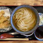 157381240 - 大阪つけ麺竹輪天セットは900円