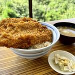 三峯山 大島屋 - わらじカツ丼