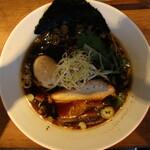 つけめん・らーめん 海老鶏麺蔵 - 鶏醤油ラーメン(750円、真上から)
