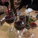 かさはら - 赤ワインもいっちゃいます