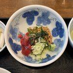 157420079 - スタミナ定食 ¥770 のまぐろ納豆