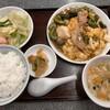 龍巳飯店 - 料理写真:中華風ゴーヤチャンプルー定食(ライス・スープ・ザーサイ・ミニサラダ付)980円税込