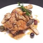 イタリア料理 モナリザン - 鶏モモ肉のカチャトーラ