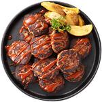 神戸クック・ワールドビュッフェ - 『BBQハンバーグ』鉄板で焼き上げた熱々のハンバーグにオリジナルBBQソースをトッピング!
