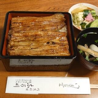 なか川 - 料理写真:上うな重(うなぎ坂東太郎使用)