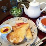 ぷろばんす - トーストモーニングプレート(飲み物代+120円)