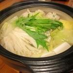 居酒屋 祭 - 料理写真:鶏つくね鍋