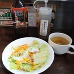 いきなり!ステーキ - いきなりセット(無料ドリンク)