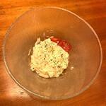 とみや - ポテトサラダはオーソドックスな味わいで美味しかったです!!