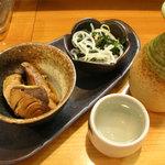 酒彩 味芳 - お通しと日本酒「来福」