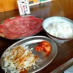 大衆ホルモン・やきにく 煙力 - とろタン定食1320円。値上がりしてました(^_^;)