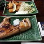 みひろ - ブリカマの塩焼きと、イカフライ