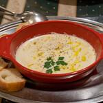マッシモッタヴィオ - 2021.8 自家燻製の温かいモッツァレラチーズ(1,630円)