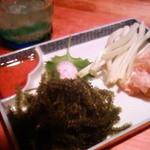 子子子 - 海ぶどう、しまらっきょ ミミガー 2010.02.17