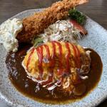 レストラン明治の赤煉瓦 - 料理写真:文明開花オムライス 海老フライ