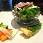 ルセット シェ イイナ - ■前菜:サラダ、ピクルス、キッシュ