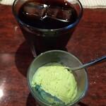 ルセット シェ イイナ - ■アイスコーヒーとアイス(ランチのセット)