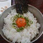 炭火焼鶏×デザート こてつ - こてつ定食、卵かけご飯