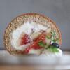 キッサ マシマロ - 料理写真:2021年9月再訪:無花果とほうじ茶のロールケーキ☆