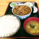 永井食堂 - もつ煮(大盛)定食