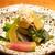 高太郎 - お通し  旬の有機野菜と大豆のおひたし