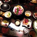 中嶋旅館 - 料理写真:夕食(ご飯とお吸い物は後からでお願い)