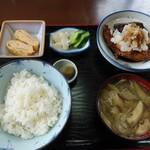 七福食堂 - 料理写真:サバ竜田揚げ ご飯 小小