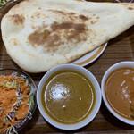タージマハル - 料理写真:左がチキンで右がパンプキン