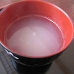 """渋谷食堂 - 「そば湯」は""""お椀""""にての提供"""