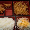鮮味館 - 料理写真:日替わりランチ\680(コーヒー付)。今日はじゃがいも甘辛炒め。真ん中の空白地帯は、今日も空白(笑)