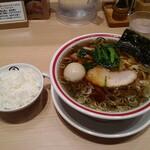 玉 - 味玉旨味醤油そば+白飯