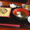 なごみ - 料理写真:鮎の蒲焼や天丼などオモシロそうなのもありましたが、今回は鮎のせいろ蒸し定食を頂きました。