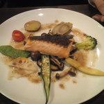 15755071 - ランチの魚料理:サーモンのアンチョビソース