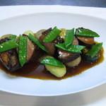 ル・デッサン - 鴨胸肉のロースト、エシャロットのコンポートと鴨のジュのソース、ゴロゴロ野菜添え