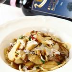 イタリア産フレッシュポルチーニとパルミジャーノのペペロンチーノ 自家製トンナレッリ