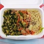 アジアンランチ - 豚&高菜、鶏炒め(辛い!)、春雨サラダ(酸辛い)