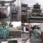 カフェ ココット - お店の前に、北の庄城跡がございます。柴田勝家とお市の方は、ここで亡くなりました。茶々、初、江の3姉妹はここで1年過ごしました。
