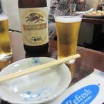 餃子屋 満園 - 瓶ビール(中)¥450