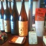 ぜん波 - 焼酎・日本酒が豊富