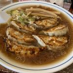 らーめんや 京楽 - 料理写真:餃子ラーメン正油