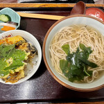 157589292 - かけそば¥700ミニ海老天丼¥250