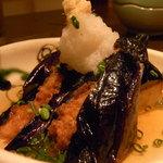 1576625 - 茄子とエビしんじょの煮浸し