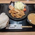 157618725 - 桃豚のしょうが焼き定食(オススメ盛・1000円)